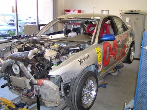 Don Istook's S4 gets repaired at Pfaff Autoworks 09/03