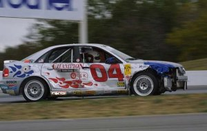 Don Istook gets wrecked at Mosport GAC 09/03