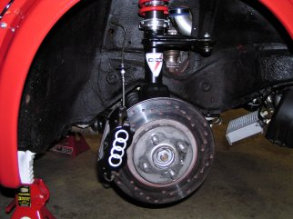 11inch brembo rotors with  4 piston Wilwood calipers