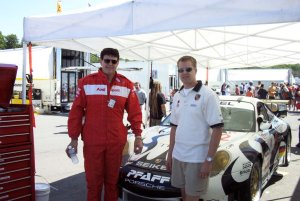 Perry with Jeff Pabst and the Seikel 911 GT3R