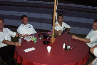 Dinner after qualifying-------Perry Mason Photo