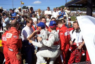 Tom and Dindo win Mosport ALMS 2002-------Perry Mason Photo