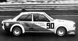 1981 Audi 4000 FIA touring car